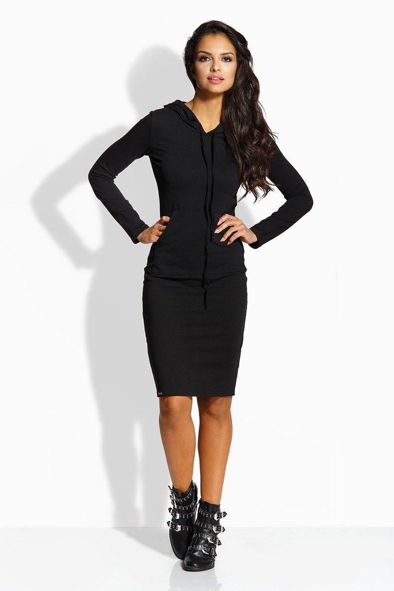 1f2836da56 Długa dopasowana sukienka czarna ELLA · Długa dopasowana sukienka czarna  ELLA ...