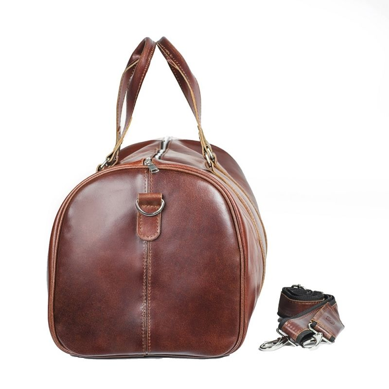 6fb675c19d396 ... CORTEZ Koniakowa męska torba ze skóry Podróżna smooth leather ...