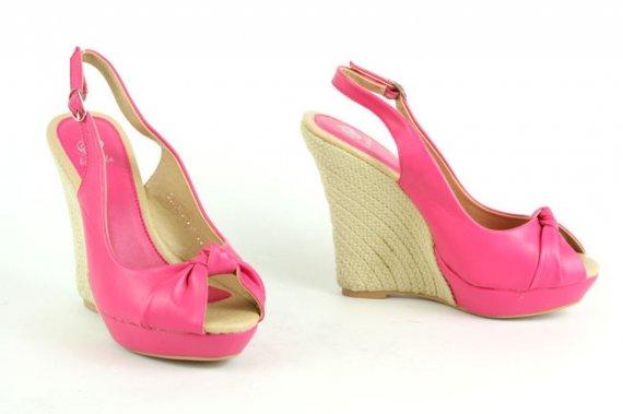 Sexy Sandały Koturny na Platformie