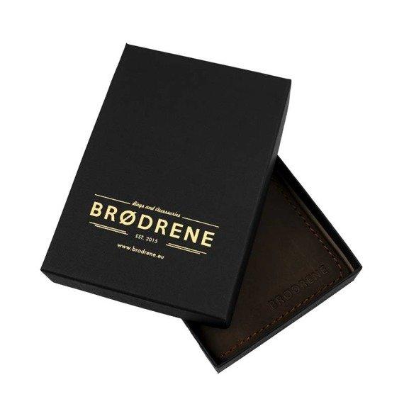 Komplet: portfel + bilonówka Brodrene czarny