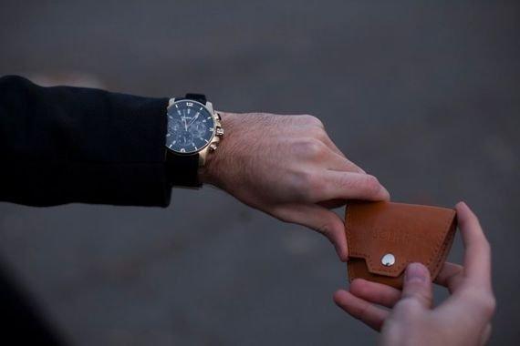 Skórzana bilonówka, portfel na monety SOLIER S CIEMNY BRĄZ ALINA
