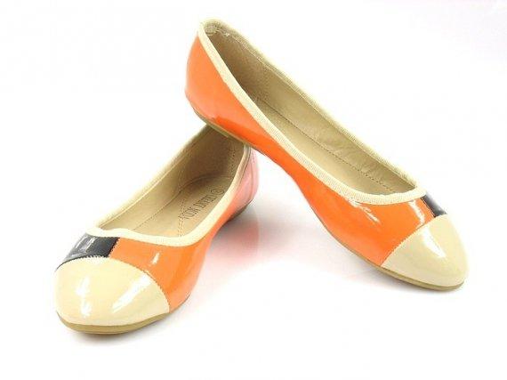 Balerinki dwukolorowe Creamy Moda