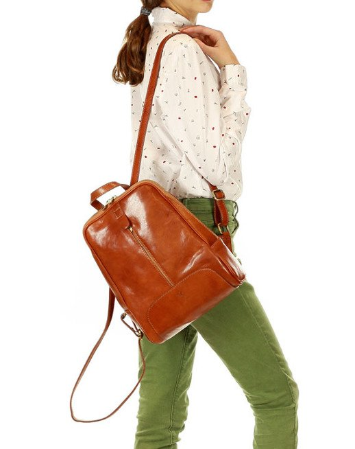 DARELLE Skórzany plecak MAZZINI camel