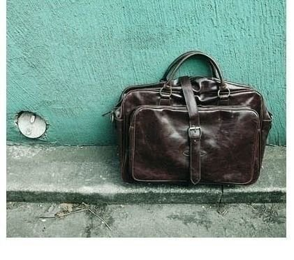 LUISE Brązowa torba męska na ramię Solier vintage