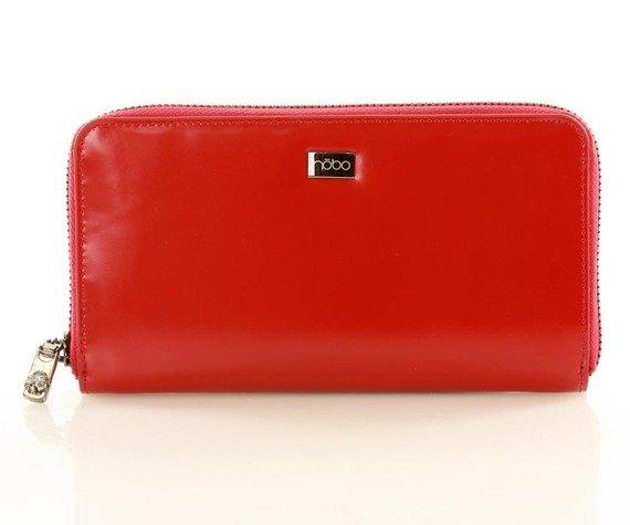 NOBO Duży portfel piórnik czerwony MARIE