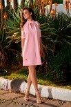 Sukienka z odkrytymi ramionami  pudrowy róż