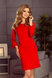 Haven sukienka z koronką na rękawkach - CZERWONA