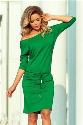 Chantal Sukienka sportowa z wiązaniem i kieszonkami - ZIELEŃ