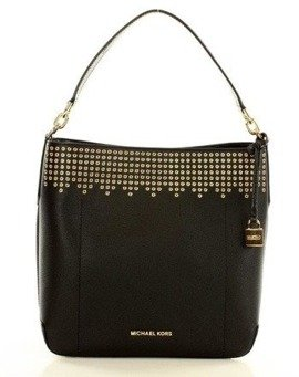Luksusowa torebka bucket MICHAEL KORS black/dark khaki