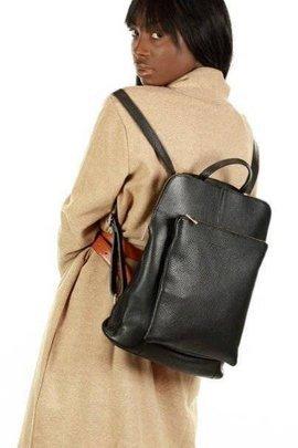 MARCO MAZZINI Plecak damski torebka crossbody A4 czarny