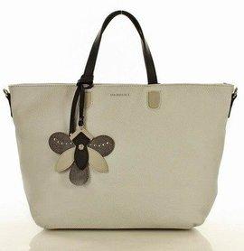 MONNARI Stylowa torba shopper bag jasny szary