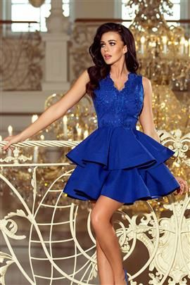 Sabrina - ekskluzywna sukienka z koronkowym dekoltem - CHABROWA